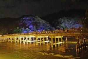 嵐山渡月橋花灯路
